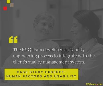RQ Case Study Human Factors and Usability MDR Regulation