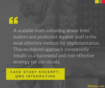 RQ Case Study Quality Management System Software Integration