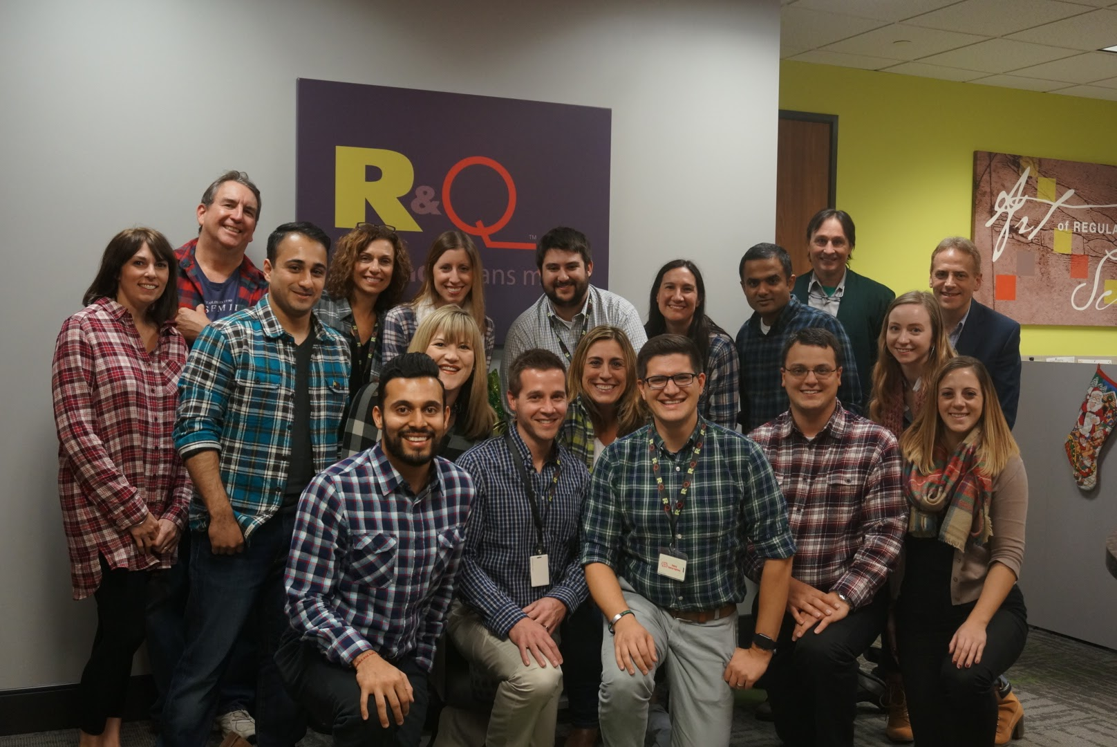 Regulatory and Quality Solutions Employee Flannel Friday