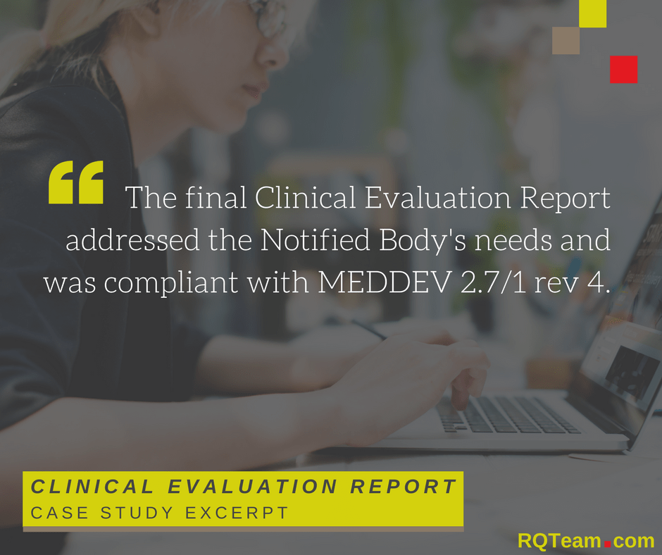Case Study Clinical Evaluation Report Excerpt