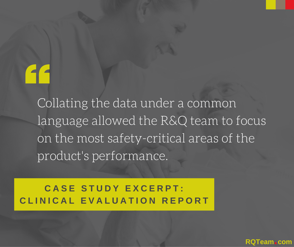 R&Q Case Study Clinical Evaluation Report Data