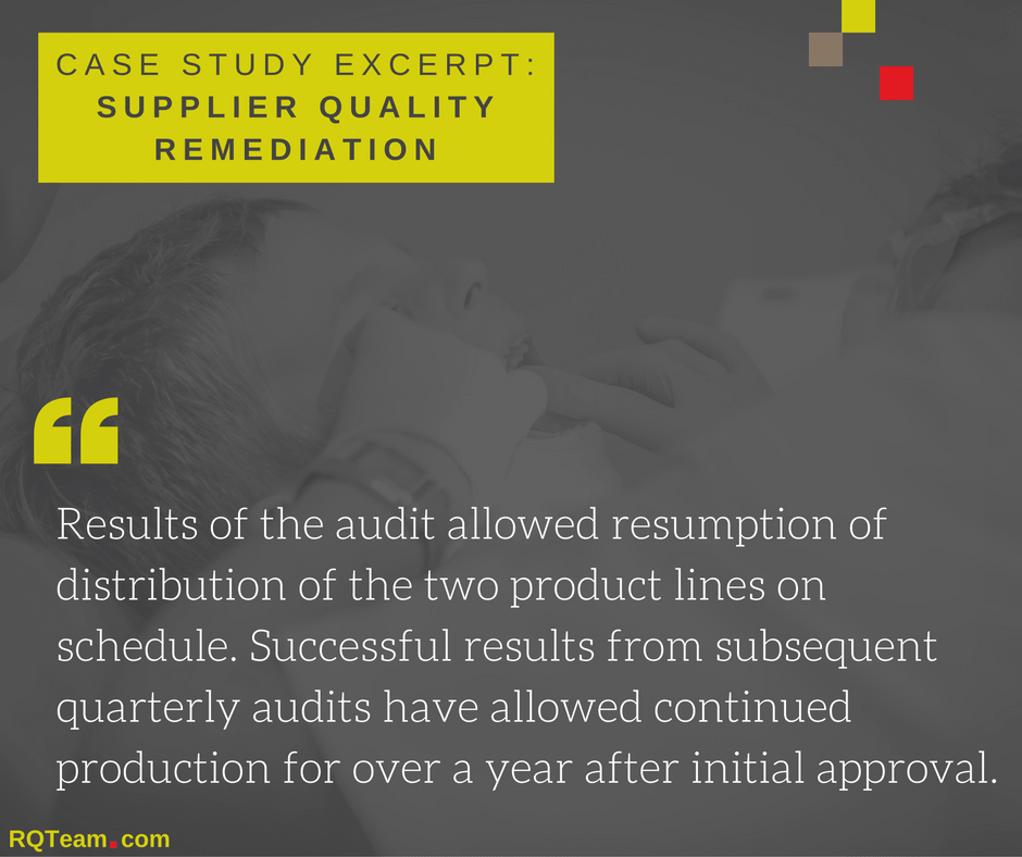 Case Study: Supplier Quality Remediation Services