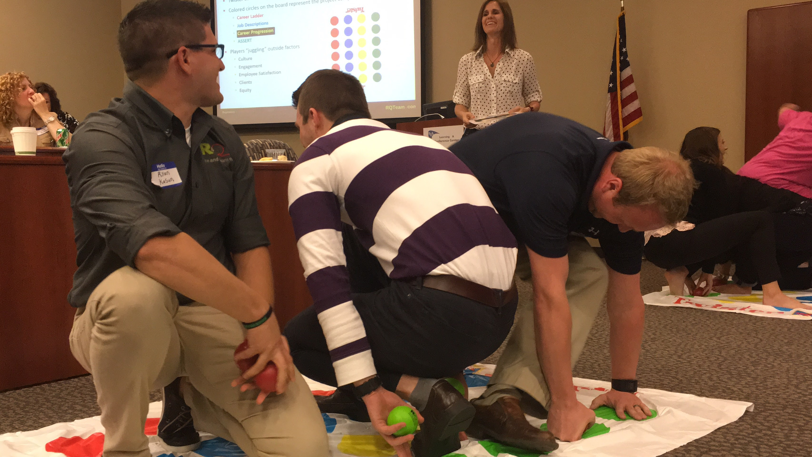 Employee Twister game